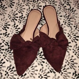 Maroon Mules size 7